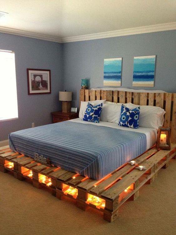 cama paletes madeira