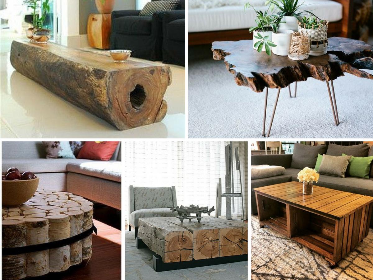 centro mesa madeira