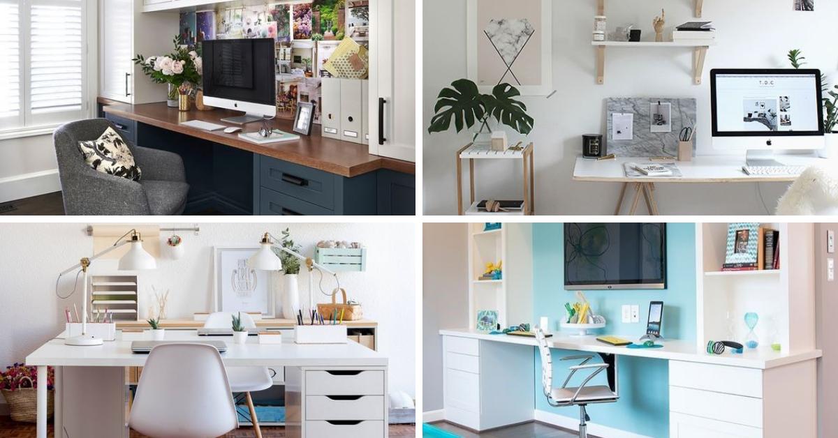 como decorar escritorio