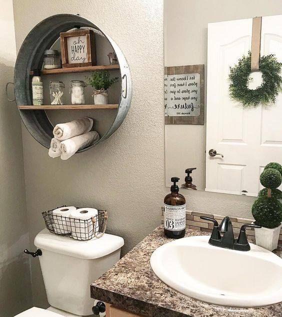 como organizar banheiro antigo simples