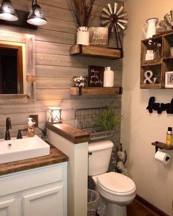 como organizar banheiro antigo