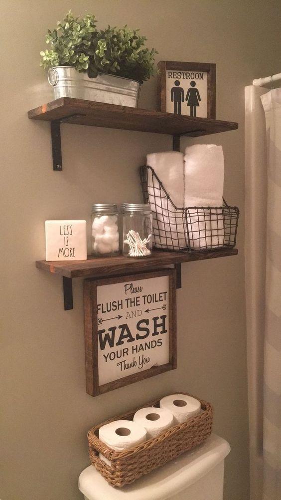 como organizar banheiro ideias
