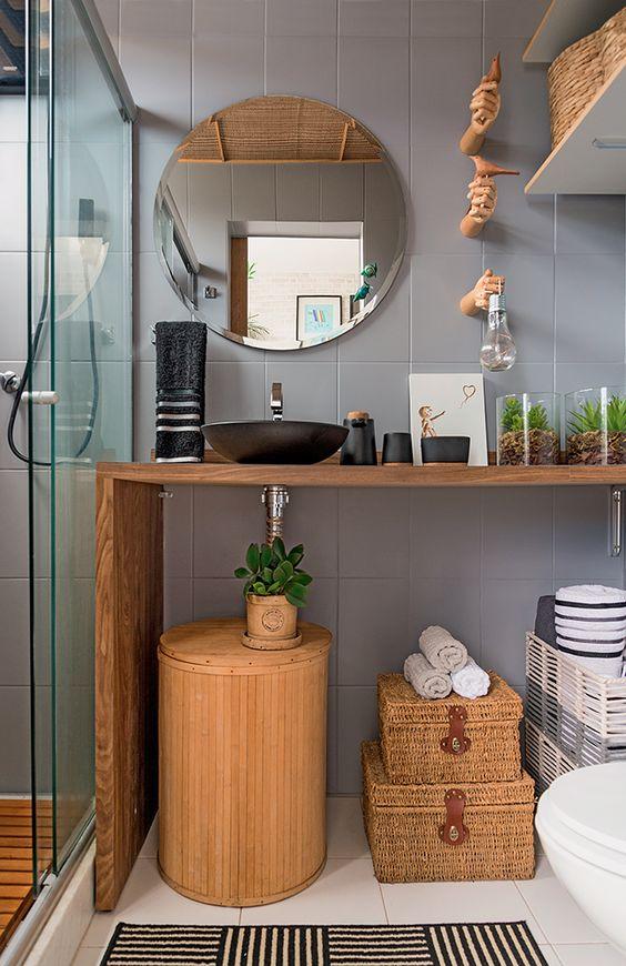 como organizar banheiro sem armario simples