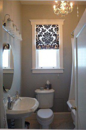 cortina banheiro pequeno tecido