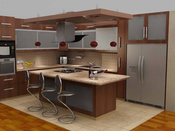 cozinha americana castanho