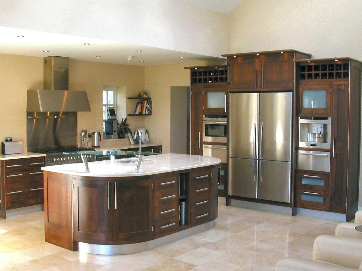 cozinha americana com ilha moderna
