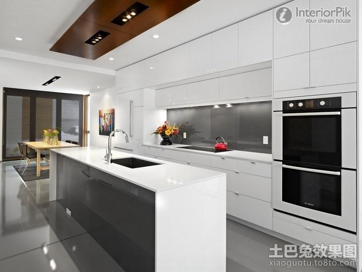 cozinha americana em branco