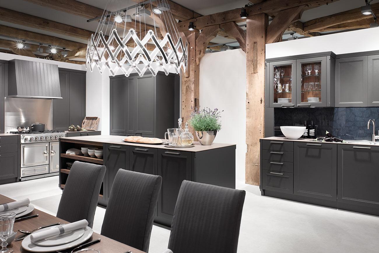 cozinha americana moderna com ilha