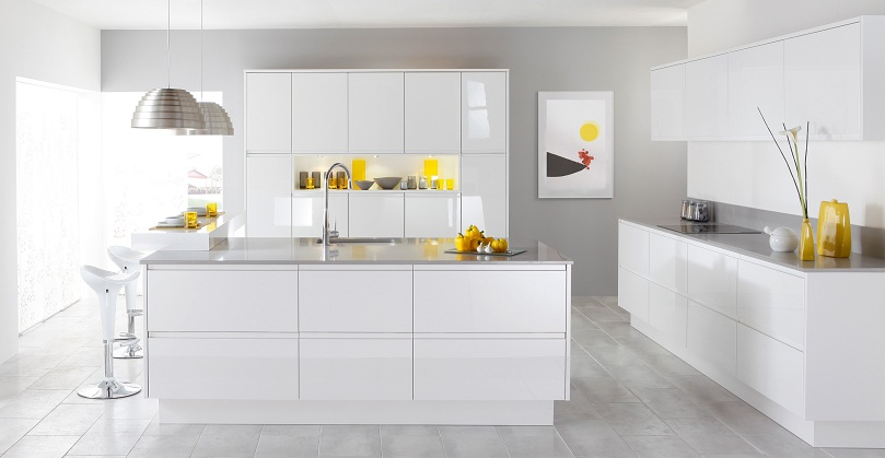 cozinha branca planejada