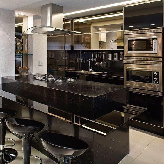 cozinha decorada preto 1