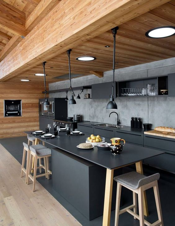 cozinha decorada preto 14