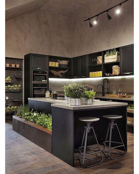 cozinha decorada preto 2