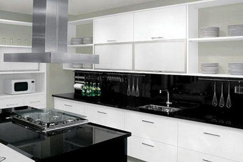 cozinha decorada preto