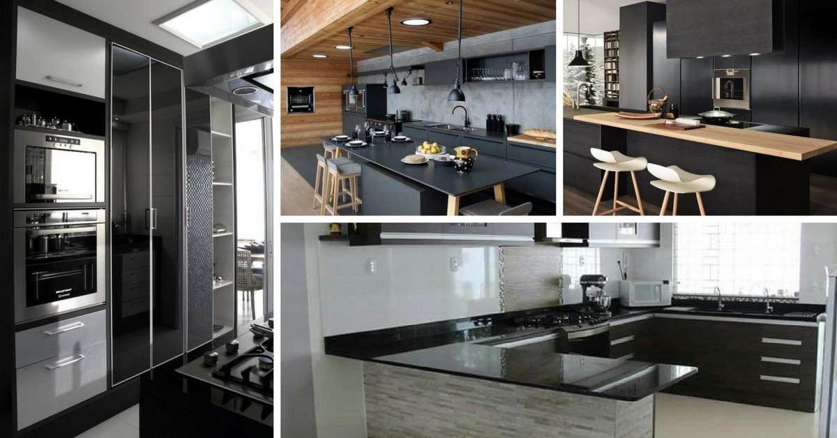 cozinhas decoradas preto