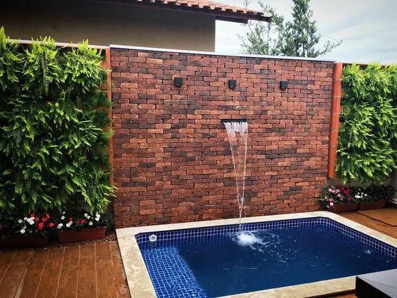 deck piscina cascata