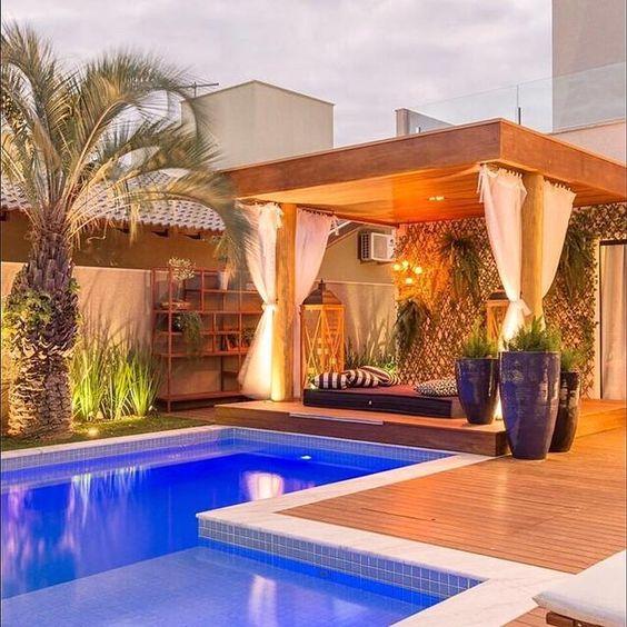 deck piscina pergolado madeira