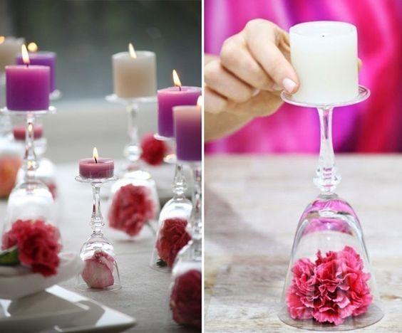 decoração batizado velas