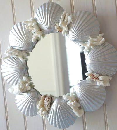 decoração com conchas do mar