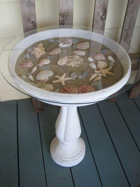 decoraçao com conchas