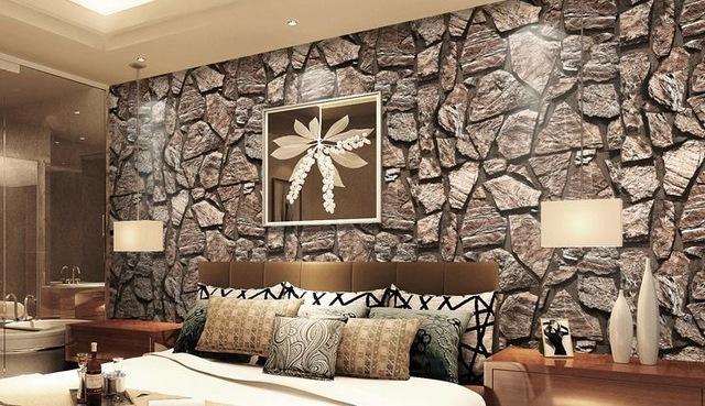 decoraçao com papel de parede 3 d