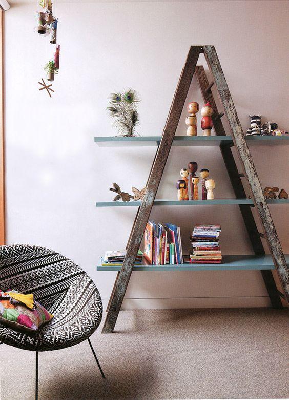 decoraçao escada de madeira
