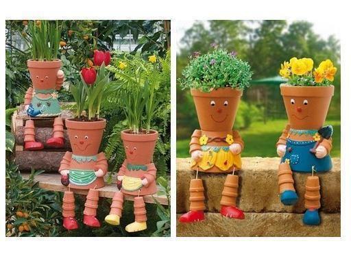 decoraçao jardim vasos de barro