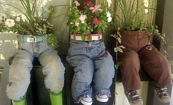 decoraçao com jeans velhos