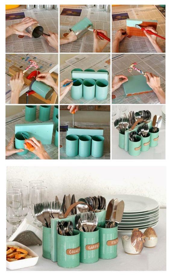 Decoração de Cozinha com Objetos Reciclados # Decorar Cozinha Diy