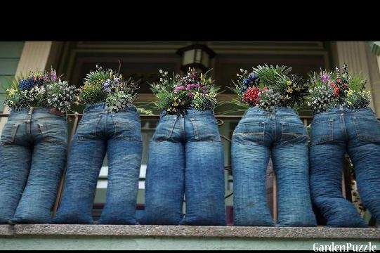 decoraçao de jardim com jeans 10