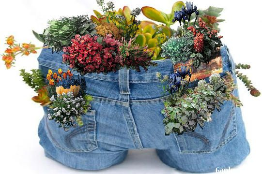 decoraçao de jardim com jeans 9