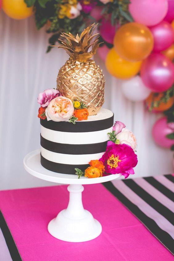 decoracao abacaxi bolo decorado