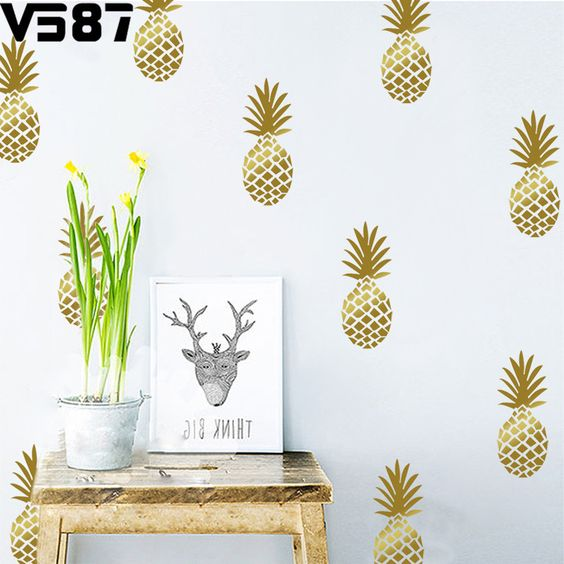 decoracao abacaxi papel parede 1