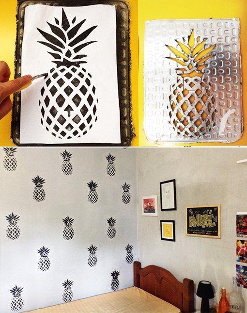 decoracao abacaxi papel parede 2
