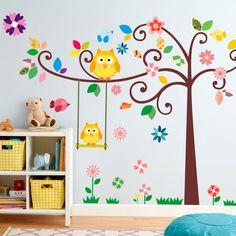 decoracao adesivo quarto crianca coruja
