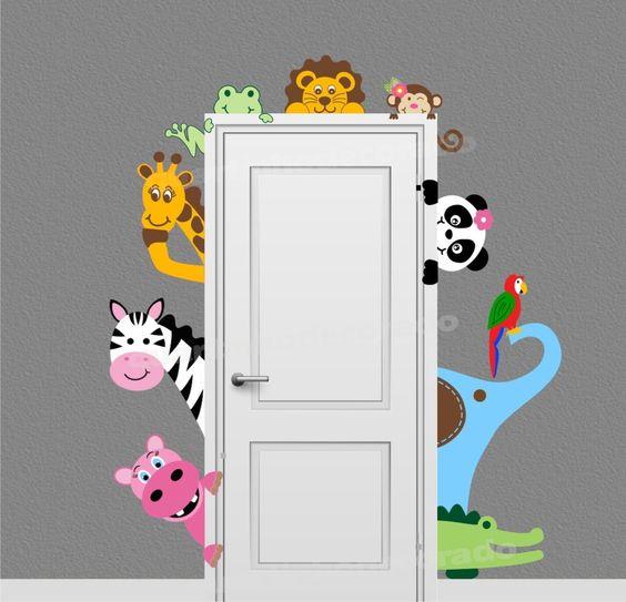 decoracao adesivo quarto crianca safari
