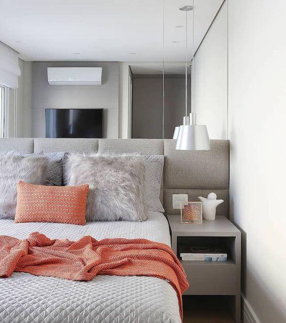 decoracao apartamento quarto cinza