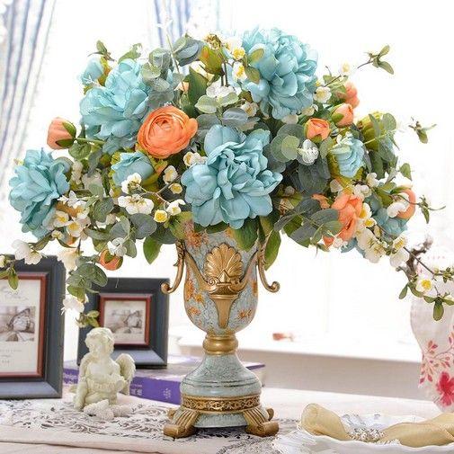 decoracao arranjo flores artificiais 1