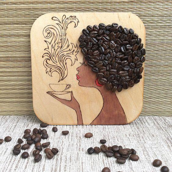 decoracao artesanato grãos cafe