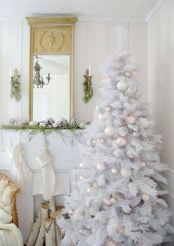 decoracao arvore branca
