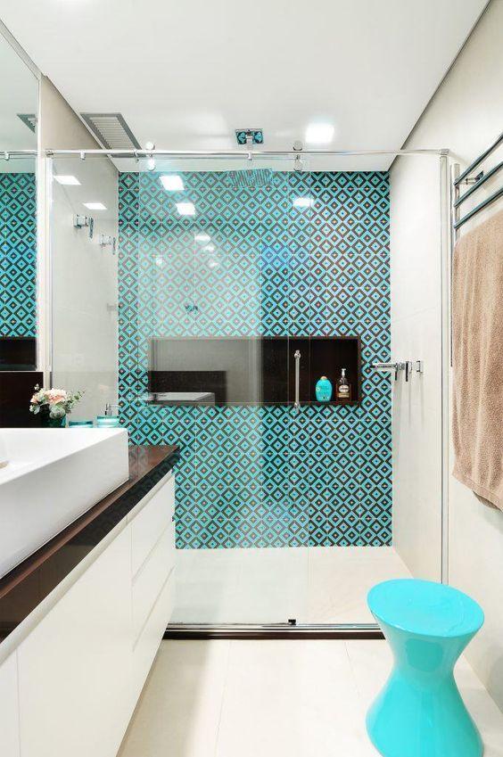 decoracao azul tiffany banheiro