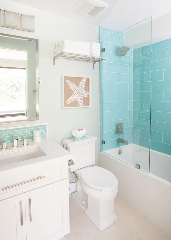 decoracao azul tiffany banheiros