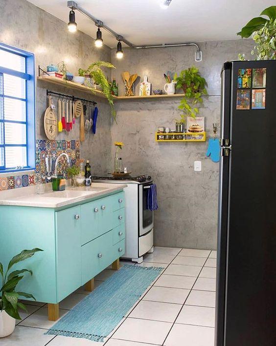 decoracao azul tiffany cozinha 1