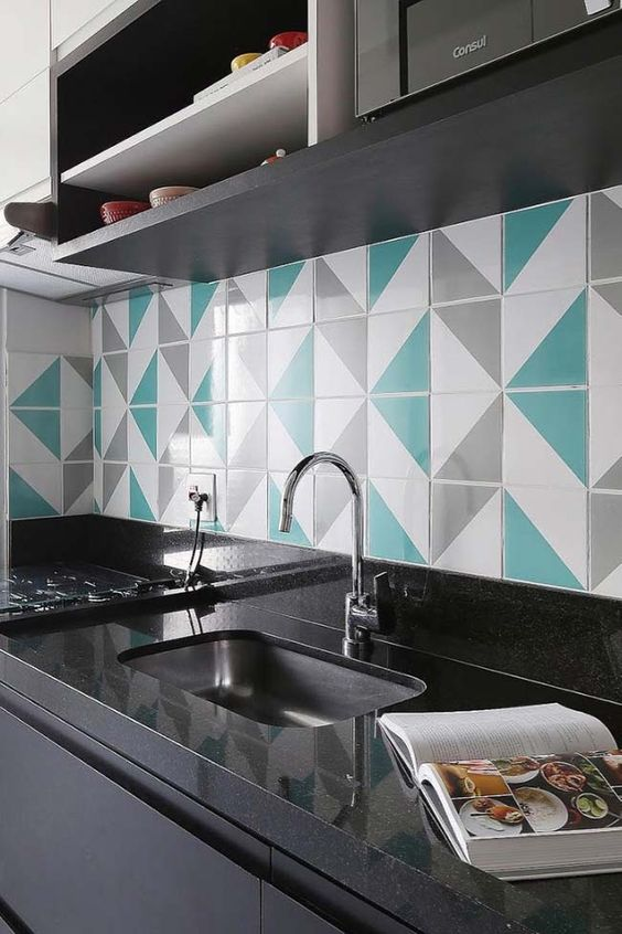 decoracao azul tiffany cozinha