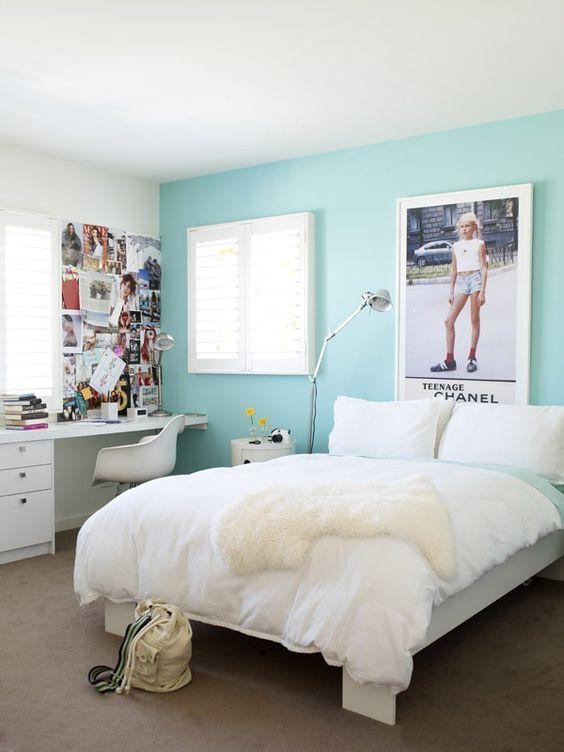 decoracao azul tiffany parede