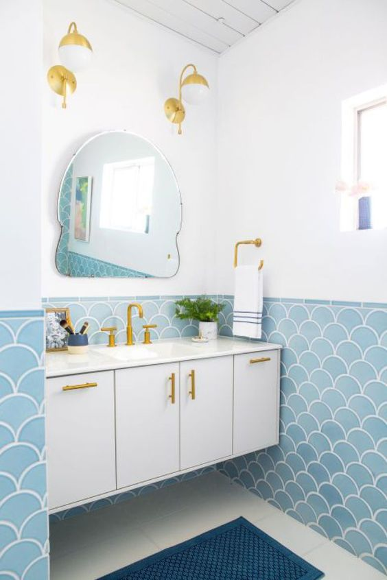decoracao azulejo escama sereia banheiro 1