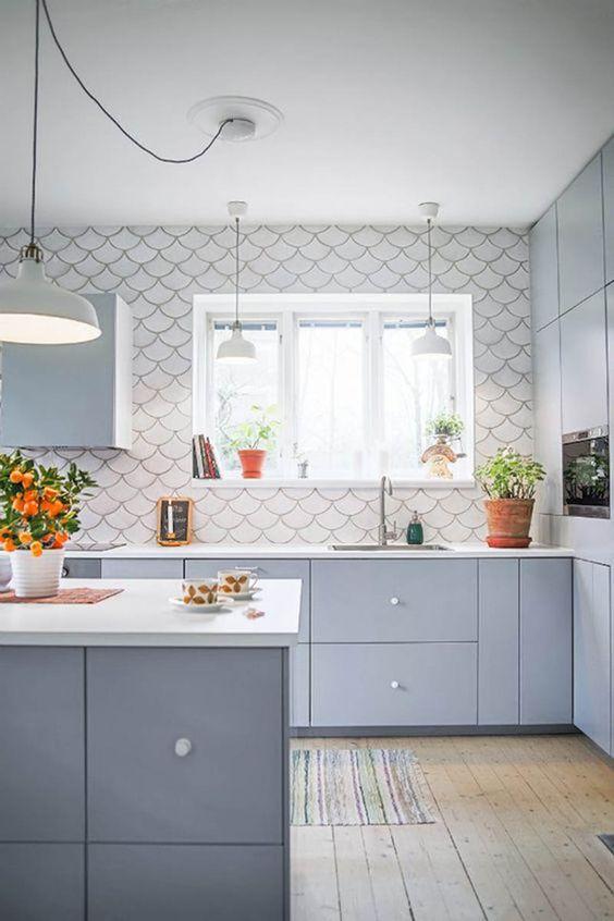 decoracao azulejo escama sereia cozinha