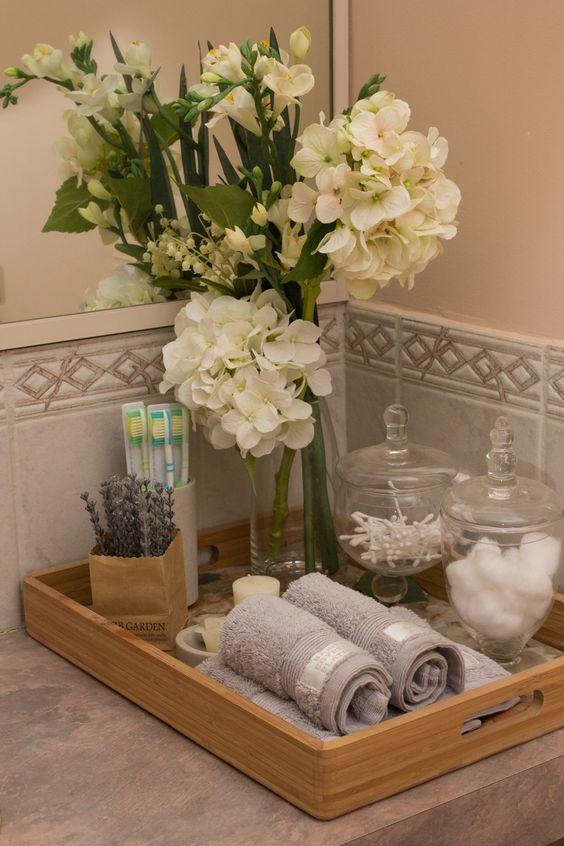 decoracao bandejas banheiro