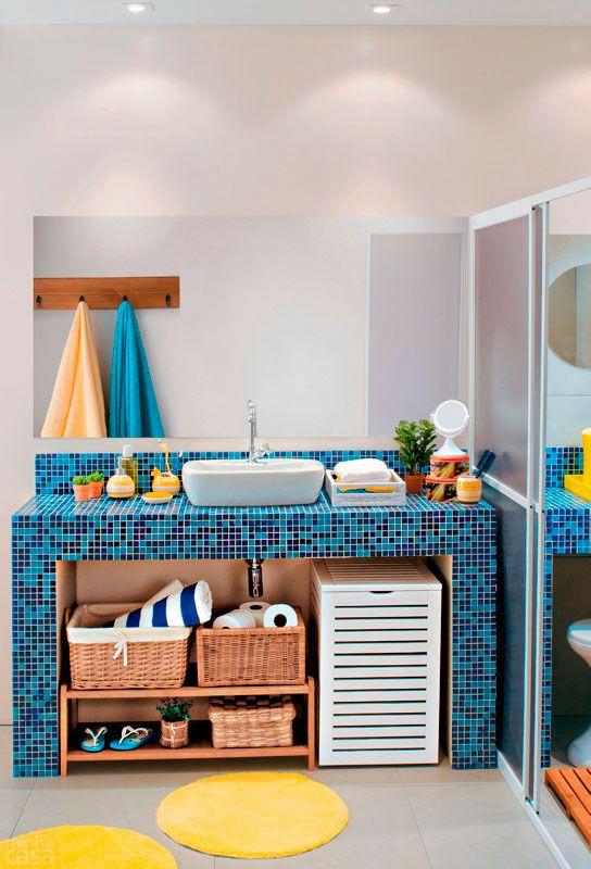 decoracao banheiro colorido 10