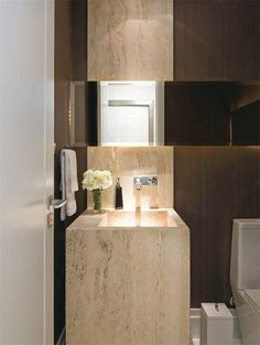 decoracao banheiro marmore travertino 1