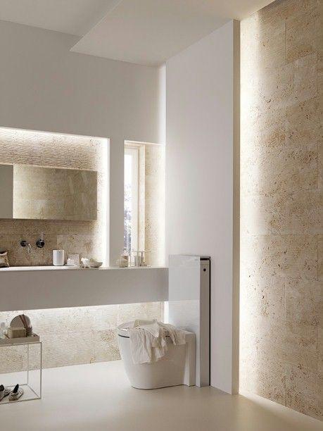 decoracao banheiro marmore travertino